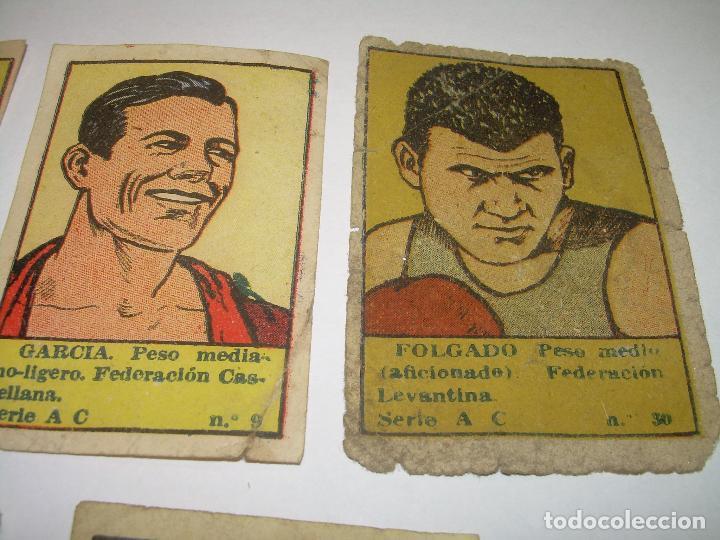 Coleccionismo deportivo: SIETE CROMOS AÑOS 20....BOXEADORES. - Foto 3 - 94424826