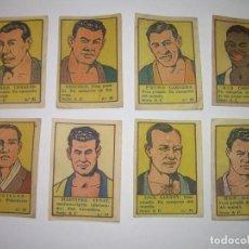 Coleccionismo deportivo: OCHO CROMOS AÑOS 20....BOXEADORES.. Lote 94424846