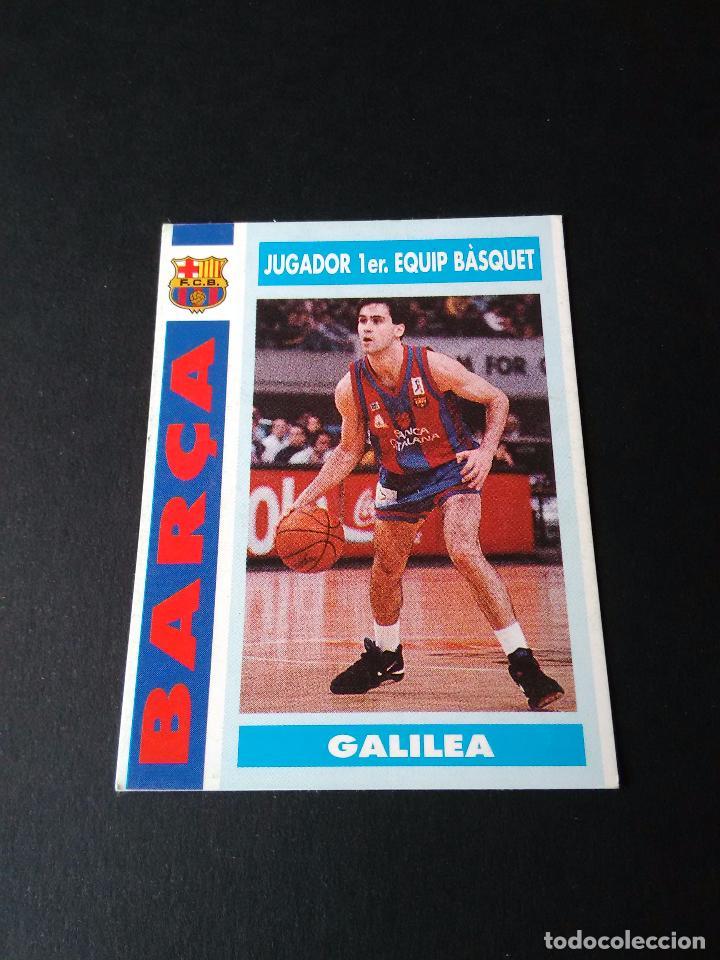 ANTIGUO CROMO BASKET: GALILEA (F.C. BARCELONA) COLECCIÓN BARÇA 92-93, 1992-1993 (BALONCESTO), Nº 70 (Coleccionismo Deportivo - Cromos otros Deportes)