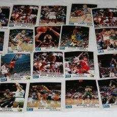 Coleccionismo deportivo: LOTE DE 47 CROMOS VINTAGE DE BALONCESTO, PANINI NBA 90, CONVERSE, ETC.. Lote 97629351