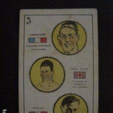 Coleccionismo deportivo: BOXEO - CROMO - NAIPE - BARAJA - 3 OROS - CARPENTIER- PHIL SCOT- SPALLA - VER FOTOS - ( V- 11.934). Lote 97872035