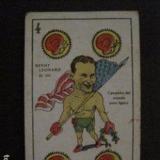 Coleccionismo deportivo: BOXEO - CROMO - CARTA - NAIPE - BARAJA - 4 OROS - BENNY LEONARD - VER FOTOS - ( V- 11.935). Lote 97872119