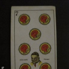 Coleccionismo deportivo: BOXEO - CROMO - CARTA - NAIPE - BARAJA - 7 OROS - DESCAMPS MANAGER - VER FOTOS - ( V- 11.937). Lote 97872299