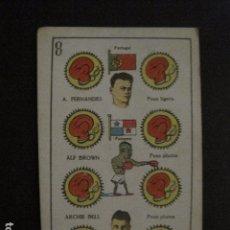 Coleccionismo deportivo: BOXEO -CROMO- NAIPE - BARAJA - 8 OROS - FERNANDES - ALF BROWN -ARCHIE BELL - VER FOTOS- ( V- 11.938). Lote 97872651
