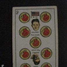 Coleccionismo deportivo: BOXEO -CROMO - CARTA - NAIPE - BARAJA - 9 OROS - HEENEY - MALONEY - VER FOTOS - ( V- 11.939). Lote 97872843