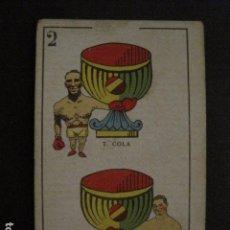 Coleccionismo deportivo: BOXEO - CROMO - CARTA - NAIPE - BARAJA - 2 COPAS -T.COLA -HILARIO MARTINEZ- VER FOTOS - ( V- 11.944). Lote 97873383