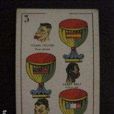 Coleccionismo deportivo: BOXEO - CROMO - NAIPE - BARAJA - 3 COPAS -Y. CICLONE- H. WILLS- F.BRETONNEL- VER FOTOS- ( V- 11.945). Lote 97873547