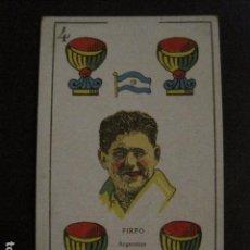 Coleccionismo deportivo: BOXEO - CARTA - CROMO - NAIPE - BARAJA - 4 COPAS - FIRPO - VER FOTOS- ( V- 11.946). Lote 97873603