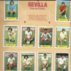 Coleccionismo deportivo: SEVILLA LIGA 1980-81 EDICIONES ESTE - 14 CROMOS PEGADOS EN SU HOJA DEL ALBUM . Lote 99995963