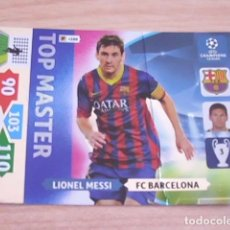 Coleccionismo deportivo: LIONEL MESSI (BARCELONA). TOP MASTER. CROMO ADRENALYN UEFA CHAMPIONS LEAGUE 2013-2014 (13-14). Lote 100261027