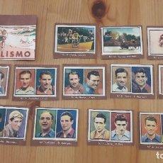 Coleccionismo deportivo: GALLINA BLANCA 2 1949 LOTE DE CROMOS DE CICLISMO. Lote 100505399
