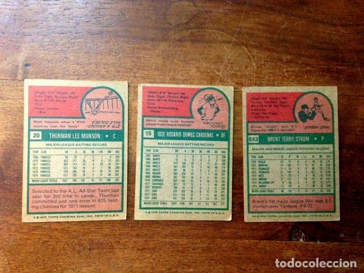 Coleccionismo deportivo: COLECCIÓN DE 44 CARTAS DE LA LIGA DE BÉISBOL AMERICANA. CARTÓN. U.S.A. 1975. - Foto 5 - 101361951