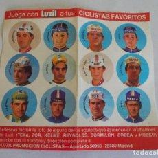 Coleccionismo deportivo: PEGATINAS CHAPAS CICLISMO ANTIGUO PUBLICIDAD LUZIL CICLISTA . Lote 101755311
