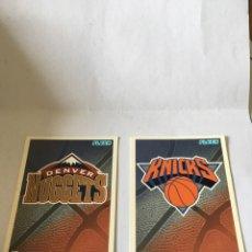 Coleccionismo deportivo: LOTE 2 CROMOS NBA FLEER DENVER NUGGETS Y KNICKS. Lote 105435086
