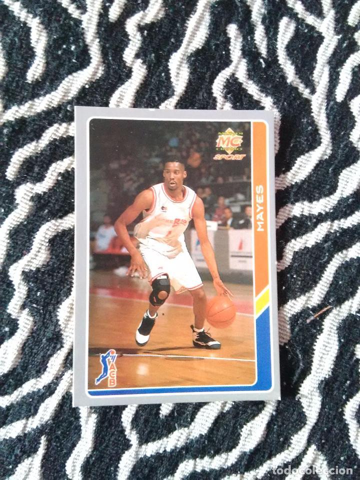 ERROR. MAYES (BREOGÁN LUGO)- FICHAS LIGA ESPAÑOLA DE BALONCESTO ACB 95 (1994-95) MUNDICROMO (Nº 152) (Coleccionismo Deportivo - Cromos otros Deportes)