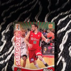 Coleccionismo deportivo: SABÍAS NICO GIANELLA (GRANADA) FICHAS LIGA ESPAÑOLA BALONCESTO ACB 2010-2011 PANINI 10-11 (Nº 162). Lote 105862071