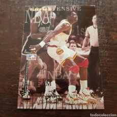 Coleccionismo deportivo: TRADING CARD NBA ALL-DEFENSIVE TEAM HAKEEM OLAJUWON Y LATRELL SPREWELL (CROMO DOBLE) FLEER '94-95. Lote 106622236