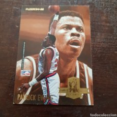 Coleccionismo deportivo: TRADING CARD NBA CAREER ACHIEVEMENT AWARD PATRICK EWING Y KARL MALONE (CROMO DOBLE) FLEER '94-95. Lote 106622387