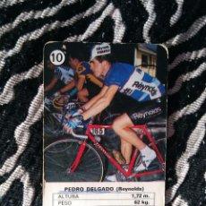 Coleccionismo deportivo: ANTIGUA CARTA DE CICLISMO HERACLIO FOURNIER AÑOS 80: PEDRO DELGADO (REYNOLDS), Nº 10. Lote 106706083