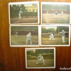 Coleccionismo deportivo: 5 CROMOS DE CHOCOLATE DE LAWN TENNIS / TENIS MASCULINO - AÑOS 20 . Lote 107273863