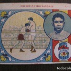 Coleccionismo deportivo: BOXEO - CROMO COLECCION BOXEADORES - UZCUDUN - VER FOTOS - (V-13.007). Lote 107584555