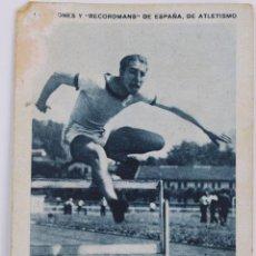 Coleccionismo deportivo: F-3467. ANTONIO SEGURADO. CROMO DEL RECORDMAN ESPAÑOL DE ATLETISMO, DE 110 METROS VALLAS. AÑO 1930. Lote 108750047