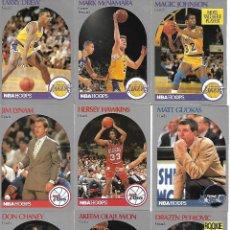Coleccionismo deportivo: COLECCION DE 43 FICHAS DE BALONCESTO NBA EN INGLES 1990 VER FOTOS. Lote 111404643