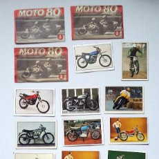 Coleccionismo deportivo: LOTE SOBRES Y CROMOS CROMO MOTO 80 TRES SOBRES CERRADOS Y 17 CROMOS CROMO SIN USO. Lote 112146023