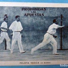 Coleccionismo deportivo: CROMO DEPORTE PELOTA VASCA A MANO , ORIGINAL . Lote 112273515
