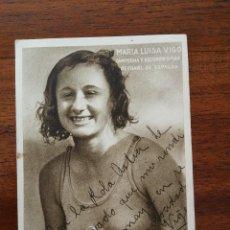 Coleccionismo deportivo: MARIA LUISA VIGO ( CAMPEONA ESPAÑA NATACION FEMENINA ) MOMENTOS ESTELARES DEL DEPORTE KOLA ASTIER . Lote 114240967
