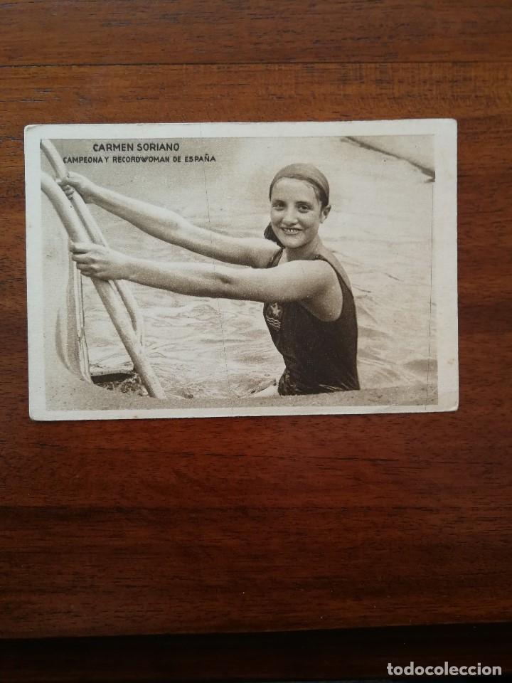 CARMEN SORIANO ( CAMPEONA ESPAÑA NATACION FEMENINA ) MOMENTOS ESTELARES DEL DEPORTE KOLA ASTIER (Coleccionismo Deportivo - Cromos otros Deportes)