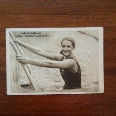 Coleccionismo deportivo: CARMEN SORIANO ( CAMPEONA ESPAÑA NATACION FEMENINA ) MOMENTOS ESTELARES DEL DEPORTE KOLA ASTIER . Lote 114241147