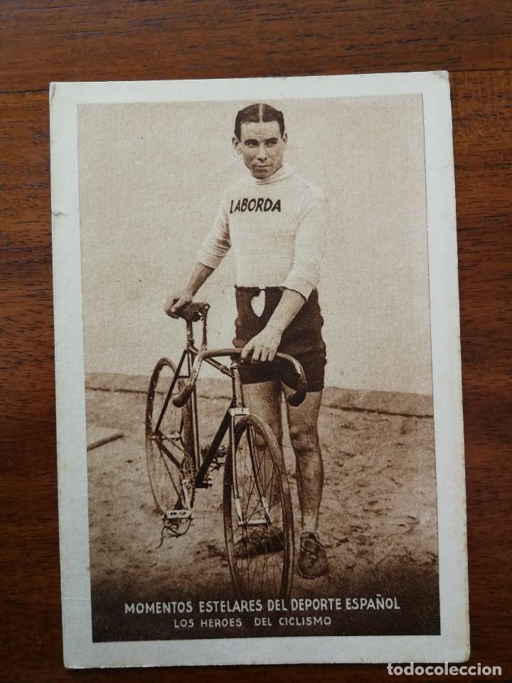 MIGUEL BOVER ( CAMPEON DE ESPAÑA DE CICLISMO ) MOMENTOS ESTELARES DEL DEPORTE ESPAÑOL KOLA ASTIER (Coleccionismo Deportivo - Cromos otros Deportes)