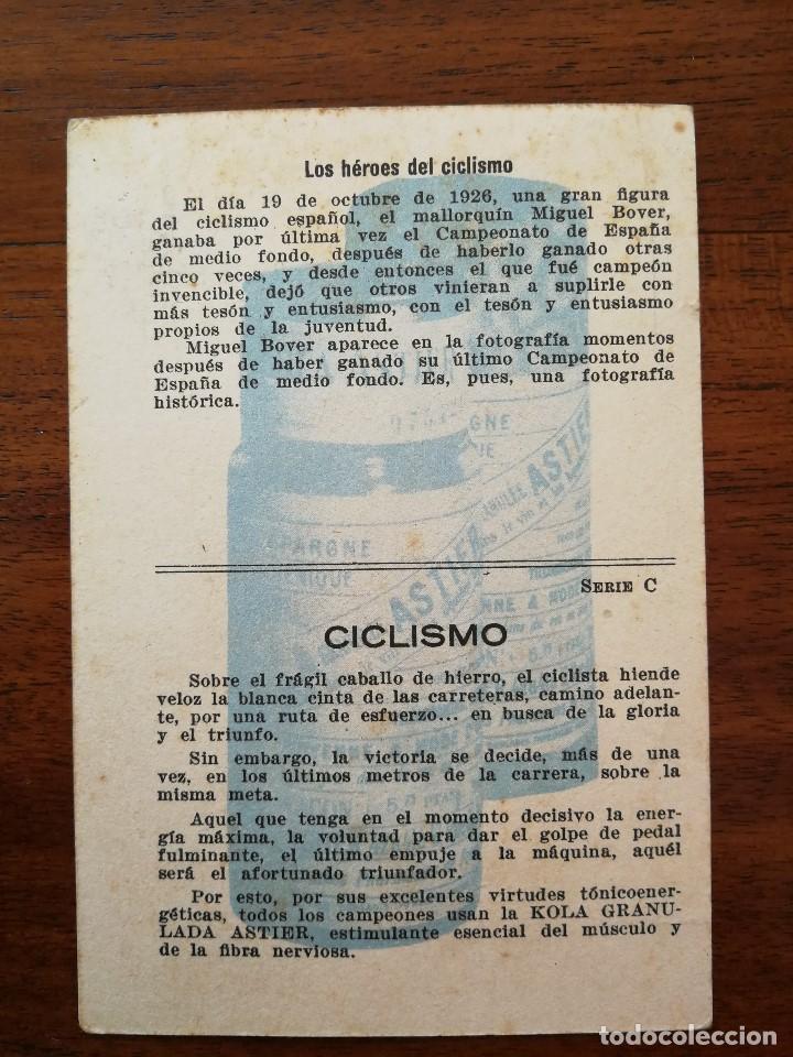 Coleccionismo deportivo: MIGUEL BOVER ( CAMPEON DE ESPAÑA DE CICLISMO ) MOMENTOS ESTELARES DEL DEPORTE ESPAÑOL KOLA ASTIER - Foto 2 - 114241539
