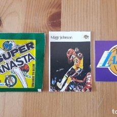 Coleccionismo deportivo: MAGIC JOHNSON SUPER CANASTA 1986 MAS REGALO NUEVO. Lote 114782591