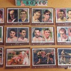 Coleccionismo deportivo: 1945 LOTE DE CROMOS DE BOXEO COLECCION GALLINA BLANCA . Lote 114898363