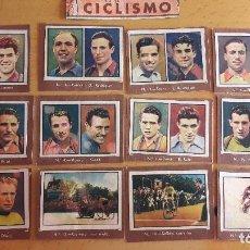 Coleccionismo deportivo: 1945 LOTE DE CROMOS DE CICLISMO COLECCION GALLINA BLANCA . Lote 114898399