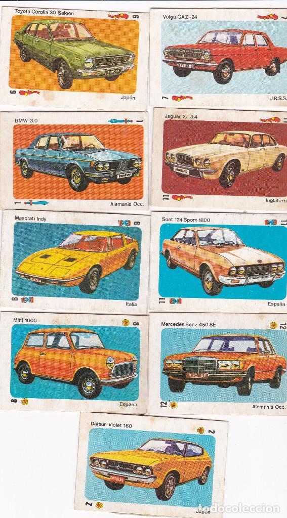 9762 - 9 CROMOS DESPEGADOS TELE MOTOR -COCHES EDITORIAL ESTE (Coleccionismo Deportivo - Cromos otros Deportes)