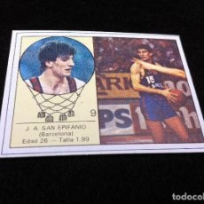 Coleccionismo deportivo: CROMO DE BALONCESTO (YOGUR LETONA) SAN EPIFANIO. BARCELONA. CROMO SIN USO. Nº 9. Lote 116842587
