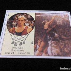 Coleccionismo deportivo: CROMO DE BALONCESTO (YOGUR LETONA) WIMTJER. BARCELONA. CROMO SIN USO. Nº 4. Lote 116844255