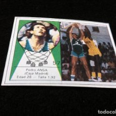 Coleccionismo deportivo: CROMO DE BALONCESTO (YOGUR LETONA) PEDRO ANSA (CAJA MADRID) CROMO SIN USO. Nº 57. Lote 116844571