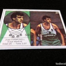 Coleccionismo deportivo: CROMO DE BALONCESTO (YOGUR LETONA) JUAN FERMOSELL (CAJA MADRID) CROMO SIN USO. Nº 59. Lote 116845127