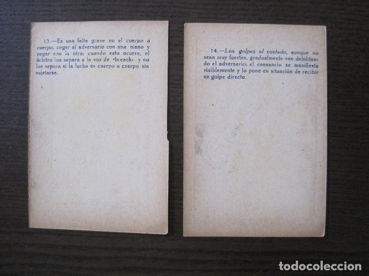 Coleccionismo deportivo: BOXEO - LA BOXE - CARPENTIER -COLECCCION COMPLETA 25 CROMOS -VER FOTOS-(V-14.098) - Foto 18 - 117034767