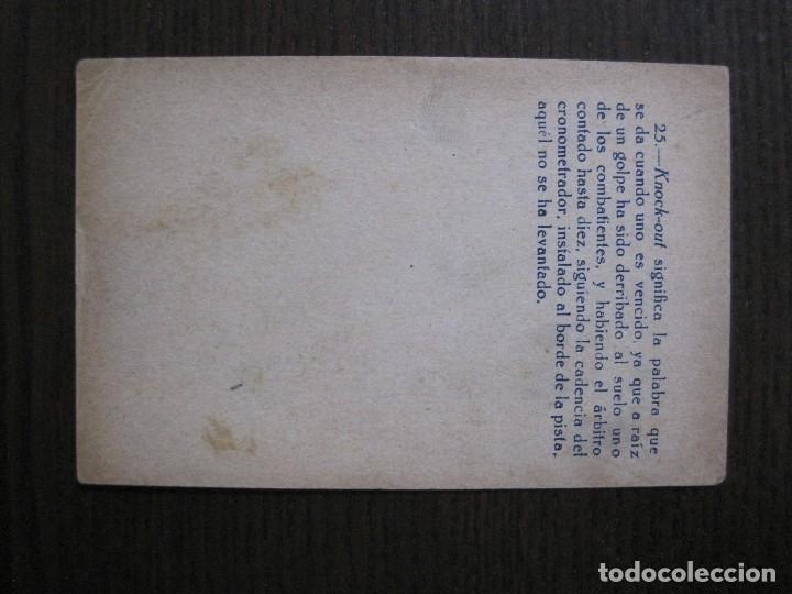 Coleccionismo deportivo: BOXEO - LA BOXE - CARPENTIER -COLECCCION COMPLETA 25 CROMOS -VER FOTOS-(V-14.098) - Foto 29 - 117034767