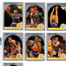 Coleccionismo deportivo: LOTE 7 CROMOS GOLDEN STATE WARRIORS NBA HOOPS 90/91. Lote 117187019