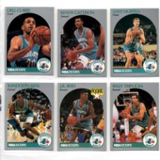 Coleccionismo deportivo: LOTE 6 CROMOS CHARLOTTE HORNETS NBA HOOPS 90/91. Lote 117187135
