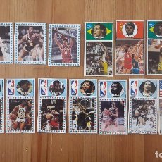 Coleccionismo deportivo: BALONCESTO MERCHANTE CLESA BUEN LOTE CROMOS NBA Y FIGURAS AÑO 85 Y 86. Lote 117198651