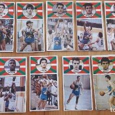 Coleccionismo deportivo: 1986 EQUIPO COMPLETO DEL CAJABILBAO BALONCESTO MERCHANTE SIN PEGAR . Lote 117221095