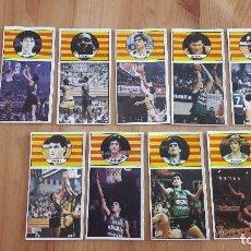 Coleccionismo deportivo: 1986 EQUIPO COMPLETO DEL JUVENTUD DE BADALONA BALONCESTO MERCHANTE SIN PEGAR . Lote 117221887
