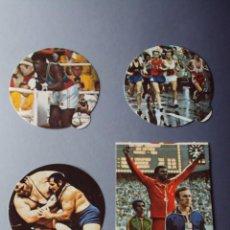 Coleccionismo deportivo: CROMOS JUEGOS OLÍMPICOS MOSCÚ 1980. COLA CAO. NUNCA PEGADOS. Nº 276-281-286-287.PERFECTO ESTADO.. Lote 117400263